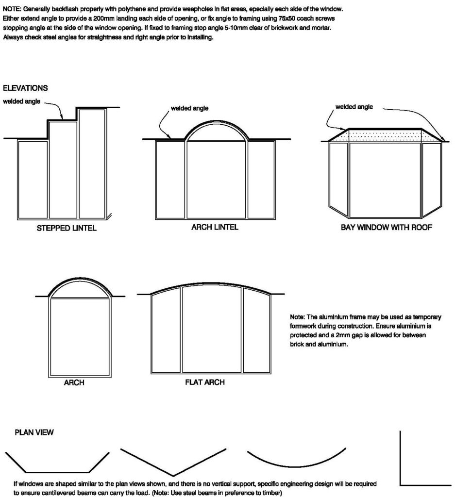 Clay Brick – Examplles Of Window Shapes