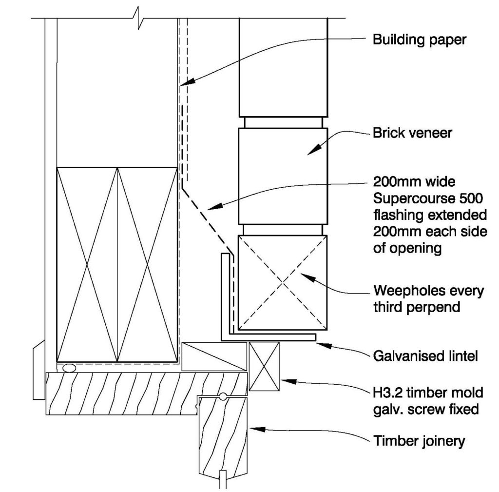 Clay Bricks – Window Head Timber