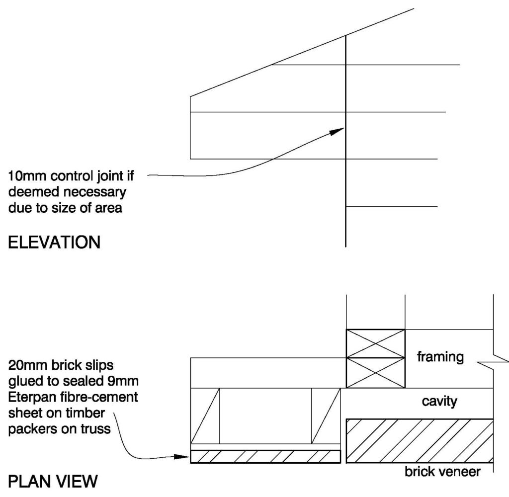 Clay Brick – Soffit End Detail