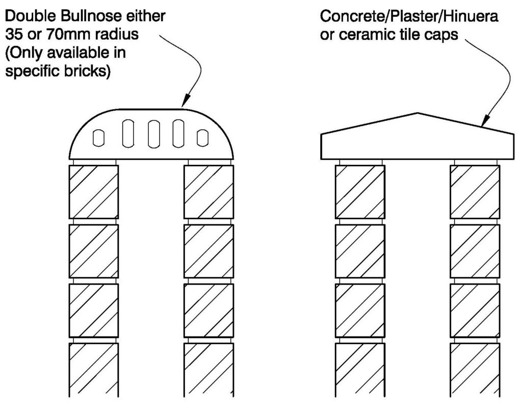 Clay Brick – Cavity Wall – Capping Options
