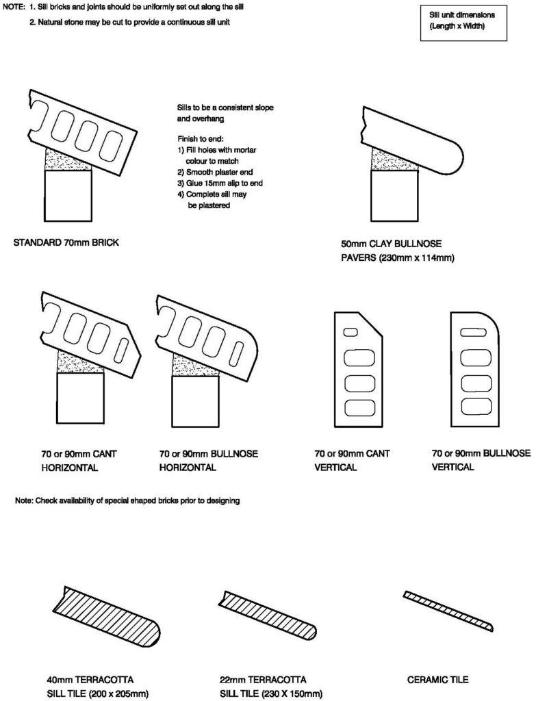 Clay Brick – Window Sill Options