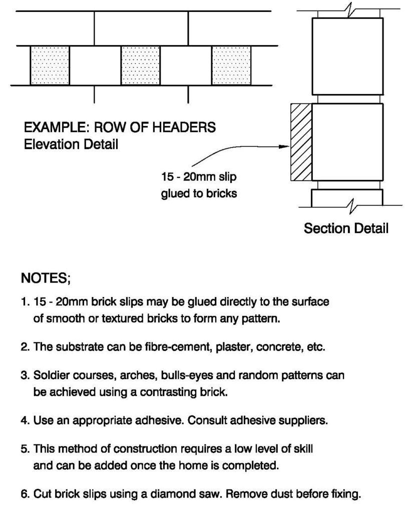 Clay Brick – Detail Using Brick Slips