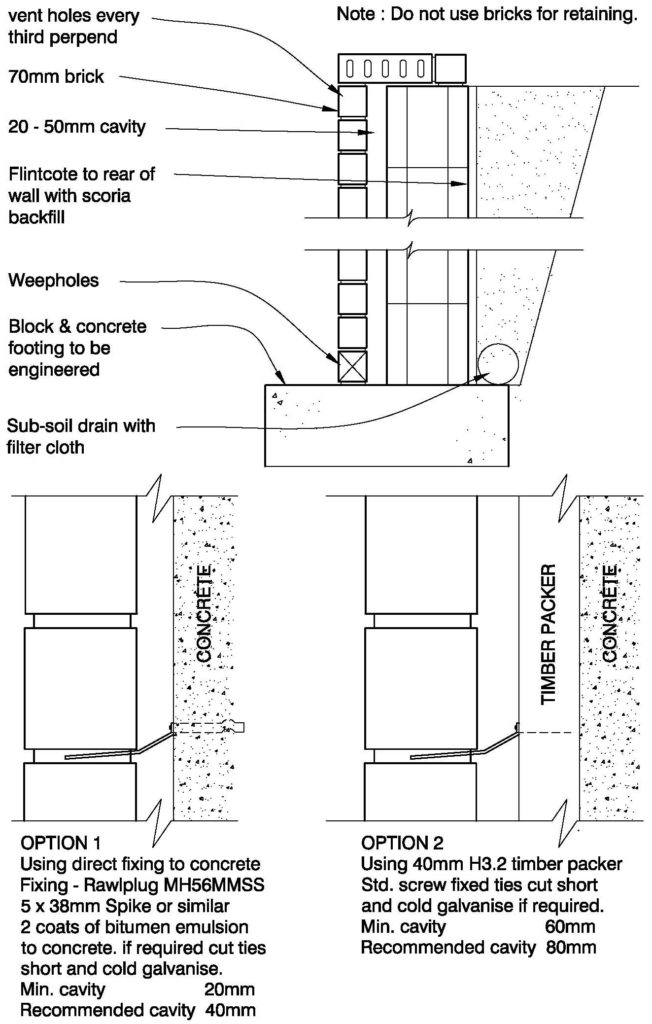 Clay Brick – Block Retaining Wall