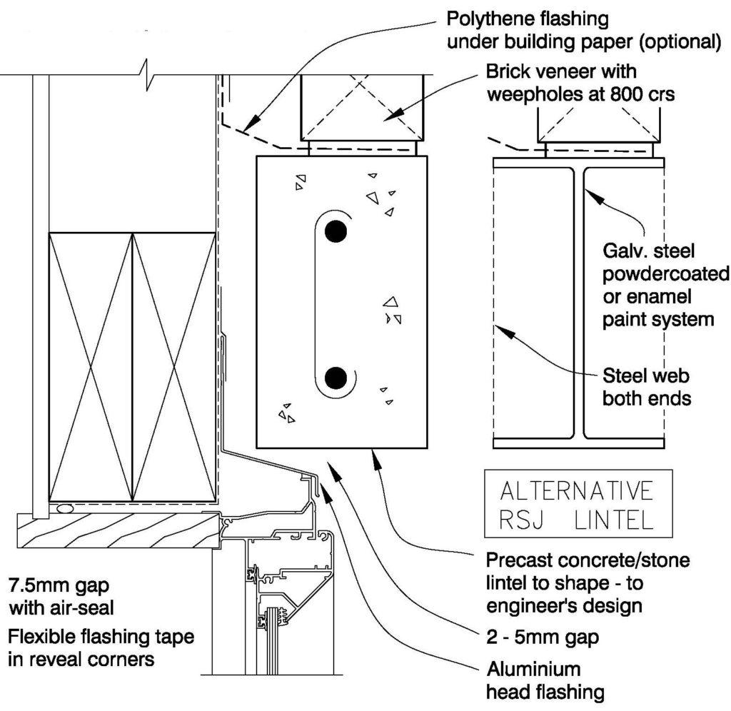 Clay Bricks – Window Head Concrete Stone Lintel