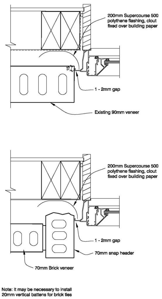 Clay Bricks – Replacing 90mm Veneer with 70mm