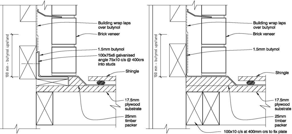 Clay Bricks – Sloping Membrane Roof