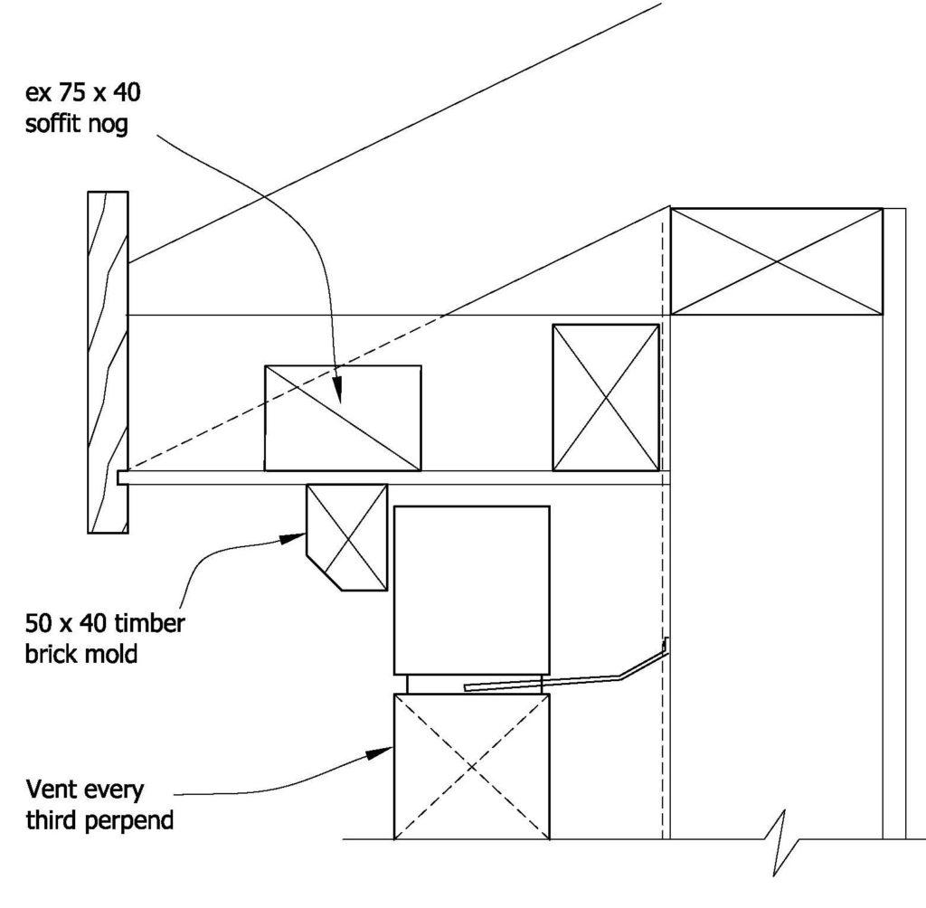 Clay Bricks – Flat Soffit With Brick Mold