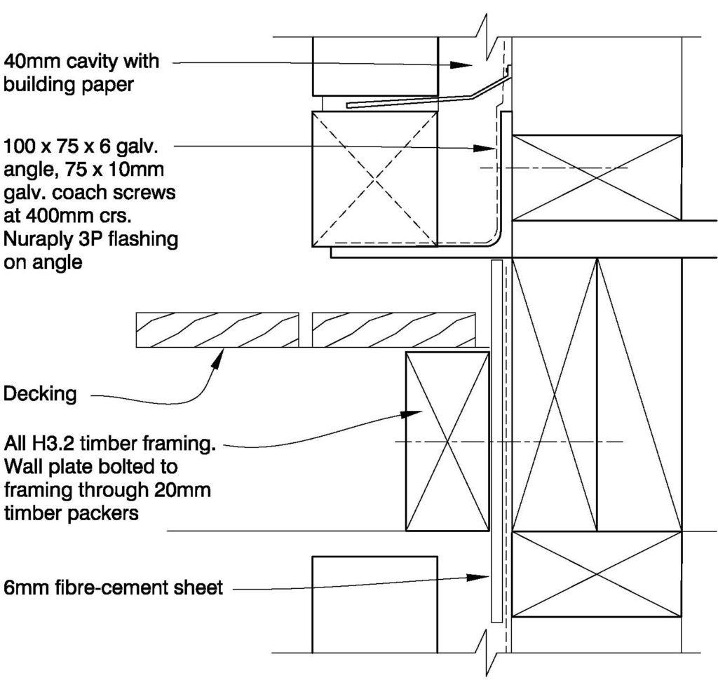 Clay Bricks – Deck Connection – Option 2: Shelf Angle