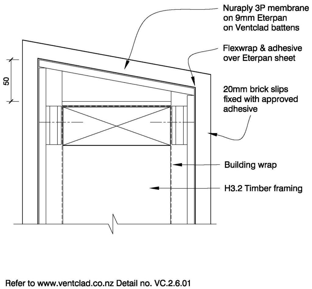 Clay Brick – Parapet Detail Ventclad/Brick Slip or Veneer