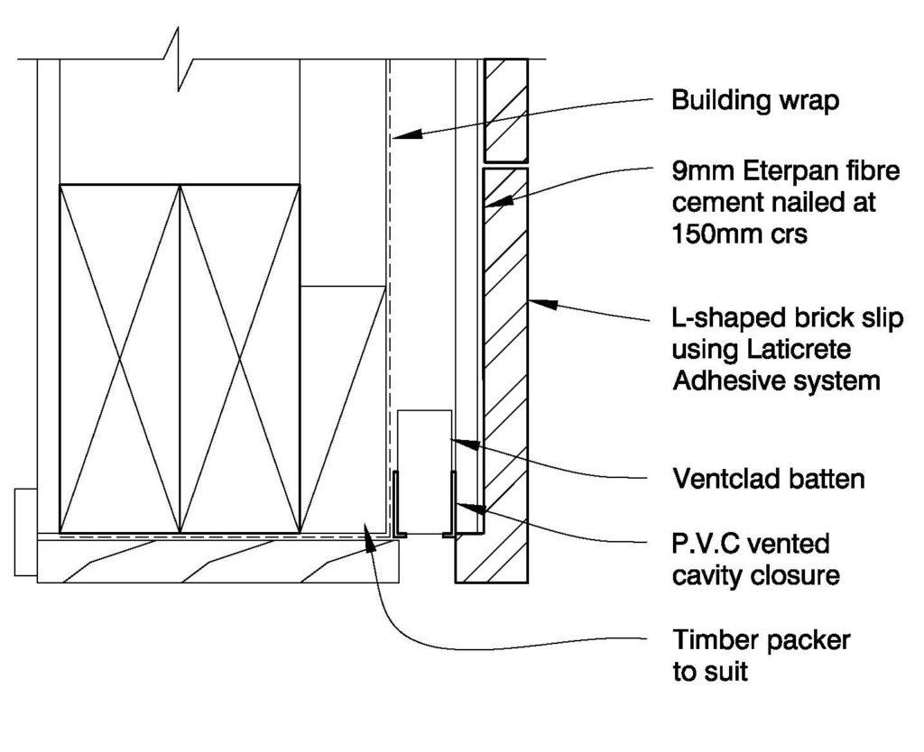 Clay Brick – Garage Opening Brick Slips on Eterpan