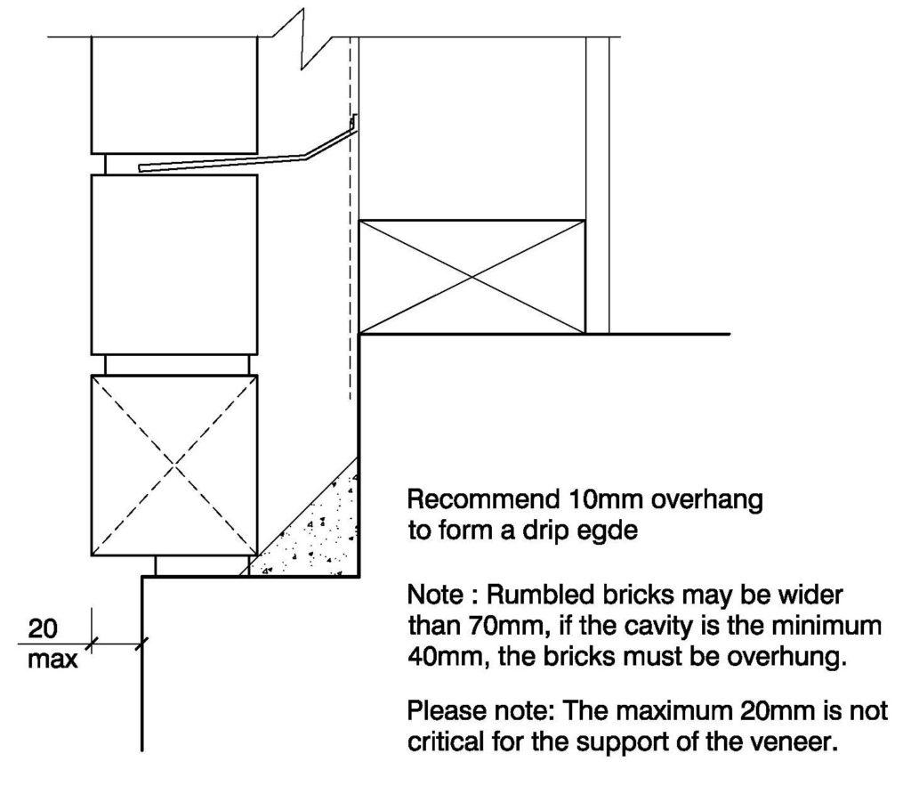 Clay Bricks – Overhanging Brick Veneer