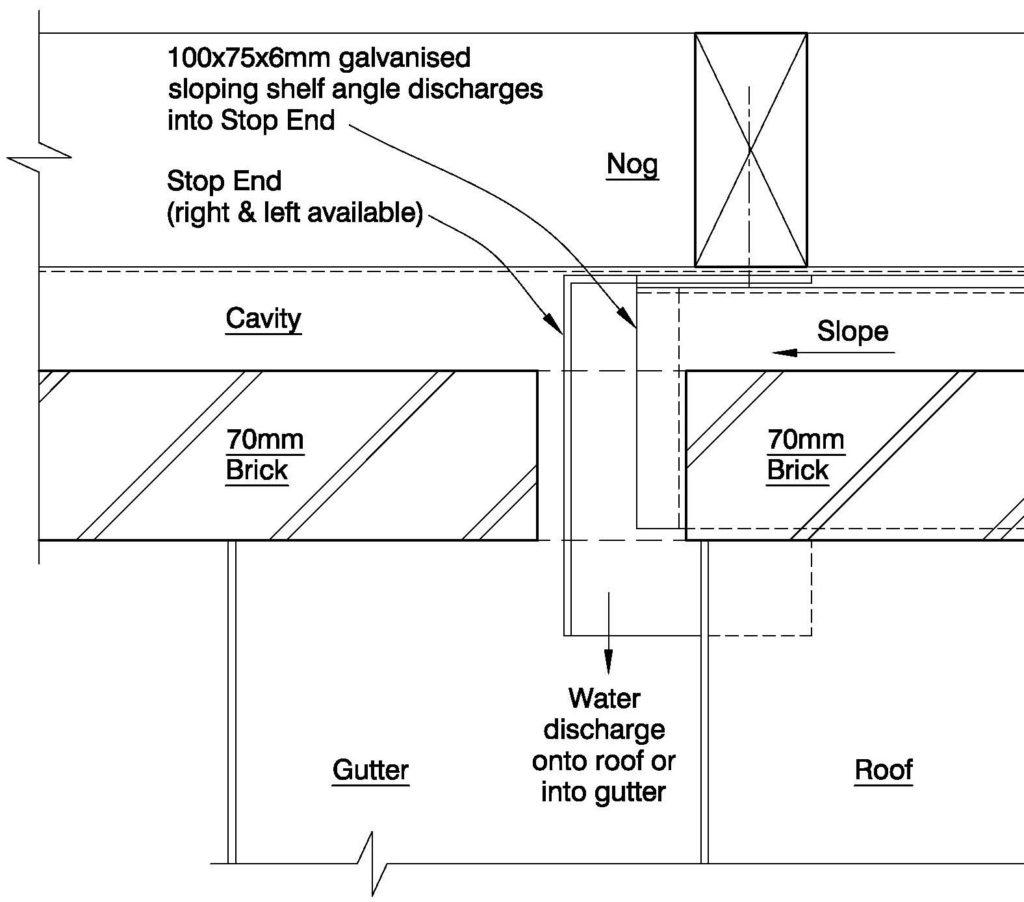 Clay Brick – Base Of Sloping Shelf Angle
