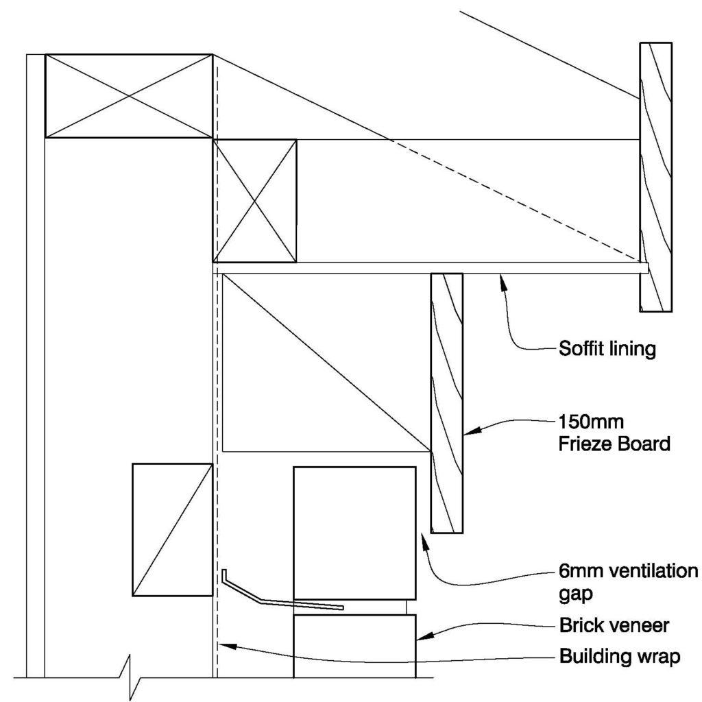 Clay Brick – Flat Soffit & 150mm Frieze Board