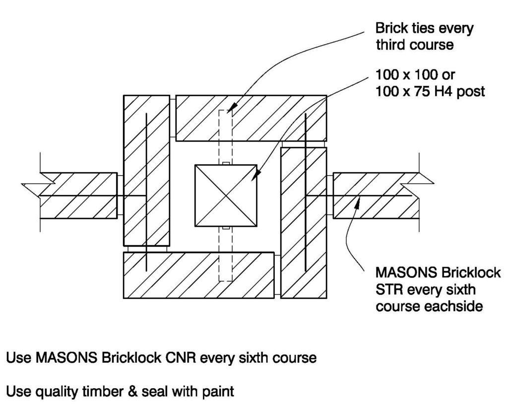 Clay Brick – Brick Column timber Post