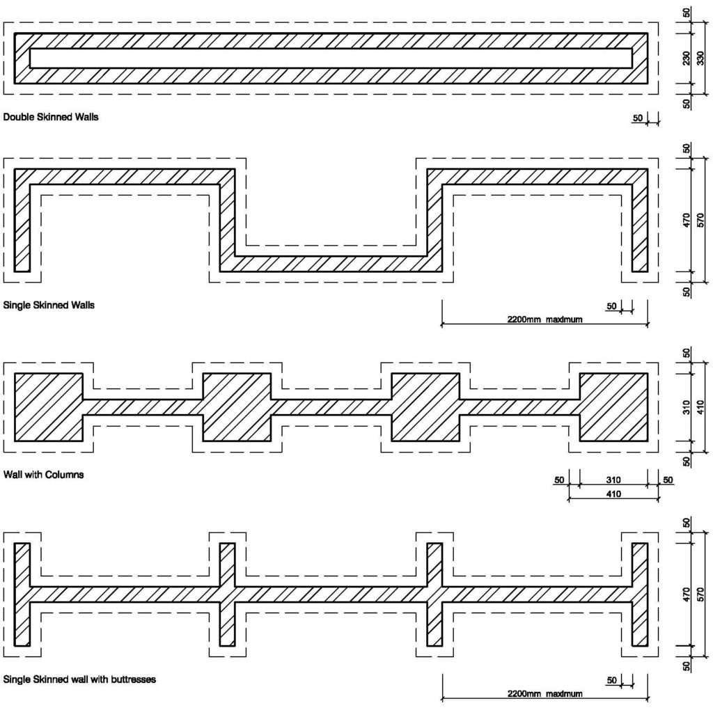Clay Brick – Suggested Wall Plan Layouts